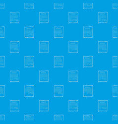 receipt pattern seamless blue vector image