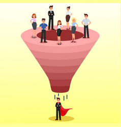 Recruitment funnel candidate selection clipart vector