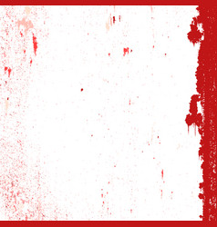red messy grunge vector image