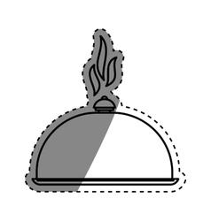 Restaurant dish dome vector