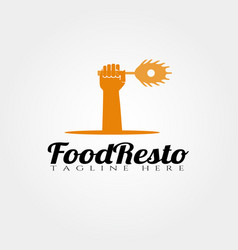 Restaurant food logo design food icon vector