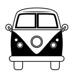 retro van car transport on white background vector image