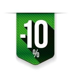 Sale twenty five percent off banner green ribon vector