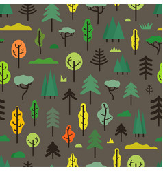seamless pattern with different trees vector image