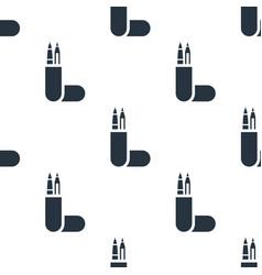 seamless pencil case pattern education symbol vector image