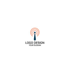 signal job logo design vector image
