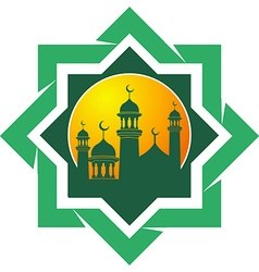 Silhouette of the mosque vector