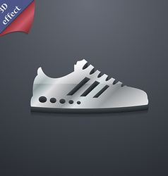 Sneakers icon symbol 3D style Trendy modern design vector image