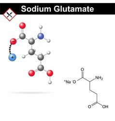 Sodium glutamate vector image