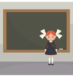 Soviet schoolgirl from school boards vector image