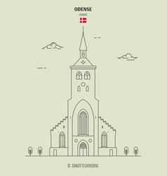 st canutes cathedral in odense denmark vector image