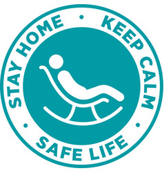 Stay home signage or sticker vector