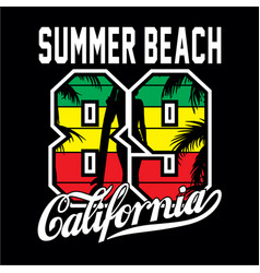 summer beach t shirt vector image