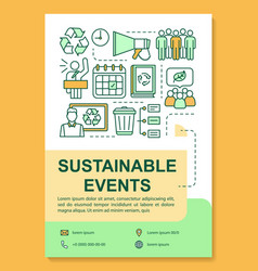 Sustainable event poster template layout vector