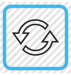 Sync Arrows Icon In a Frame vector