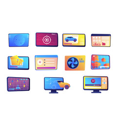 tablet and computer set vector image