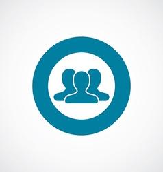 team icon bold blue circle border vector image