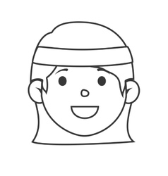 Tennis player character icon vector