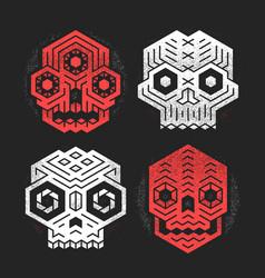 Tiki gods masks vector