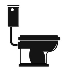 Toilet icon simple style vector