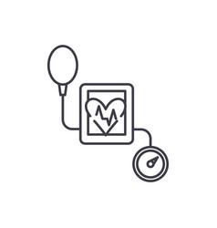 tonometer line icon concept tonometer vector image