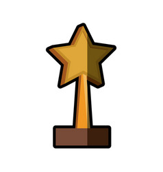 Trophy star win image shadow vector