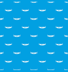 two handled saw pattern seamless blue vector image