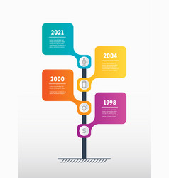 vertical timeline or infographics concept of vector image