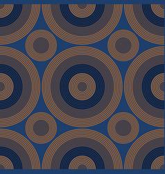 vibrant circles seamless pattern vector image