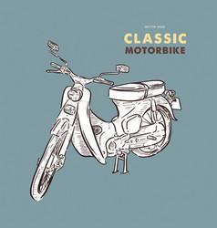 vintage motorbike hand draw sketch vector image