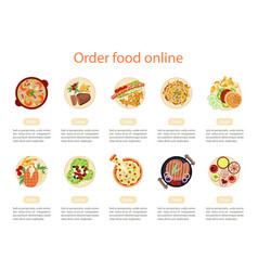 web banner design template for order food vector image