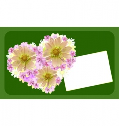 wedding or valentines day card vector image