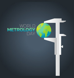 world metrology day logo icon design vector image