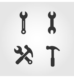 Wrench icons set flat design vector image