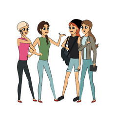 Young girls icon vector