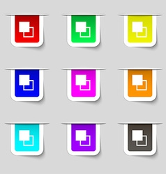 Active color toolbar icon sign Set of multicolored vector image