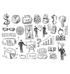 business hand drawn sketch vector image vector image