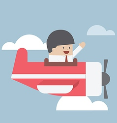 Businessman flying with private jet vector image vector image