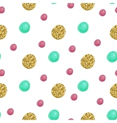 Cute pattern with gold Confetti glitter Perfect vector image
