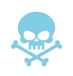Cute Skull with bones honey kind Blue Head vector image vector image