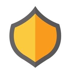 Shield gold vector image