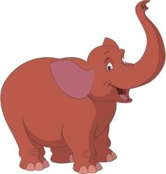 Cheerful elephant vector image