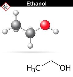 Ethanol molecular structure vector image
