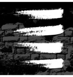grunge wall vector image vector image