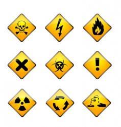 set of warning icons vector image