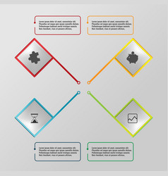 square modern business graphic template vector image