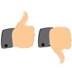 Thumb up down vector image