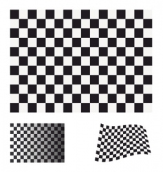 checkered flag set vector image vector image