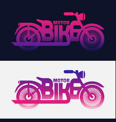 halftone motorbike vector image vector image