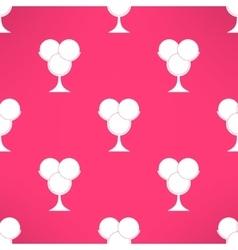 ice cream seamless pattern in modern flat vector image